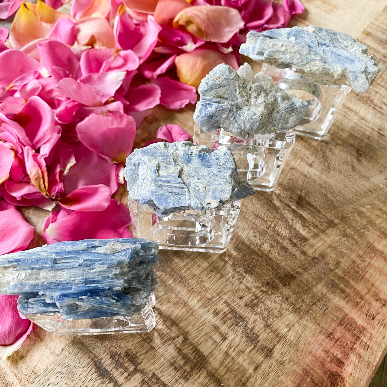 Blue Kyanite Napkin Rings (set of 4)