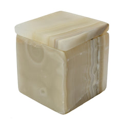 Square Onyx Stone Box by Mapleton Drive