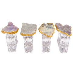 Amethyst Flower Napkin Rings (set of 4)