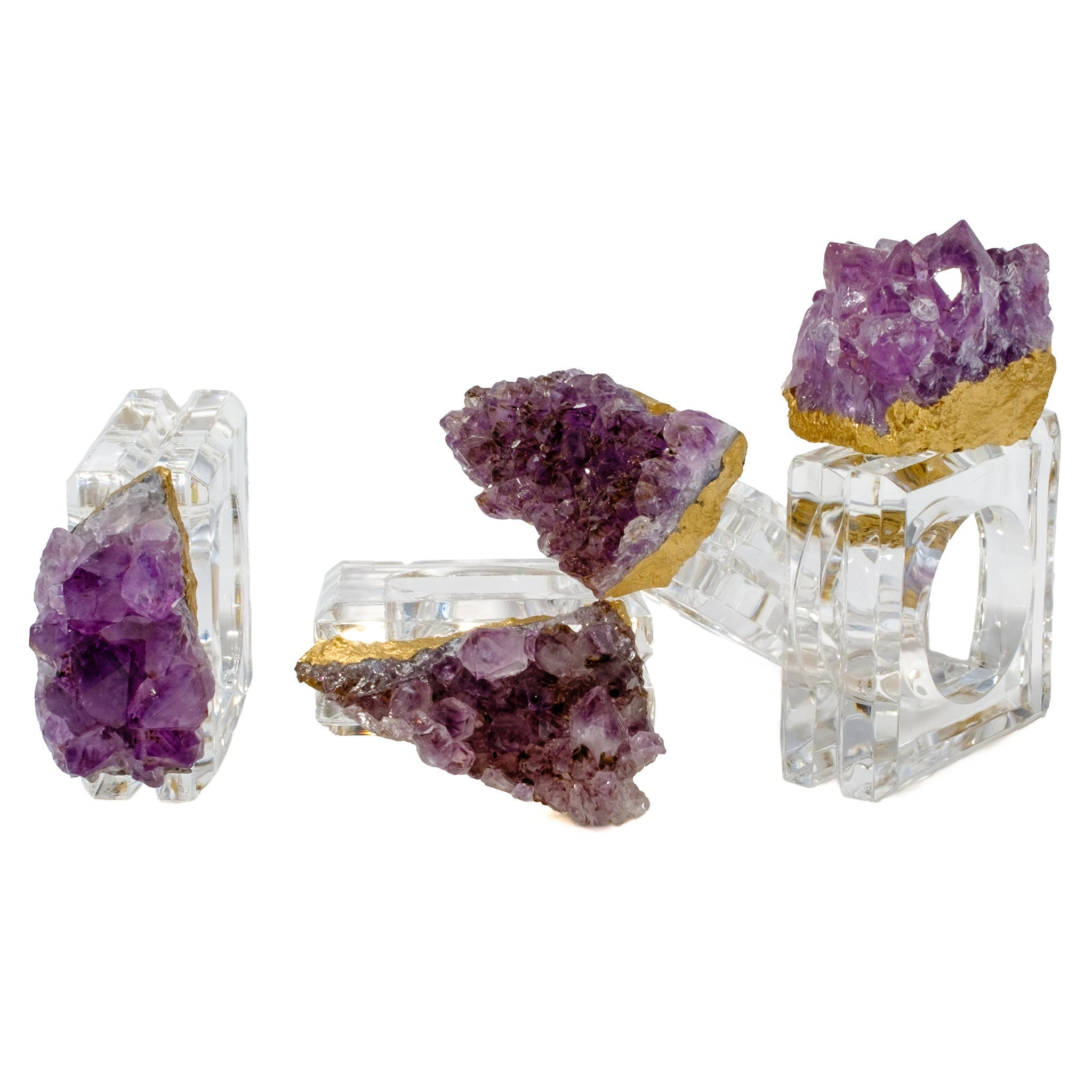 Amethyst Napkin Rings (set of 4) by Mapleton Drive