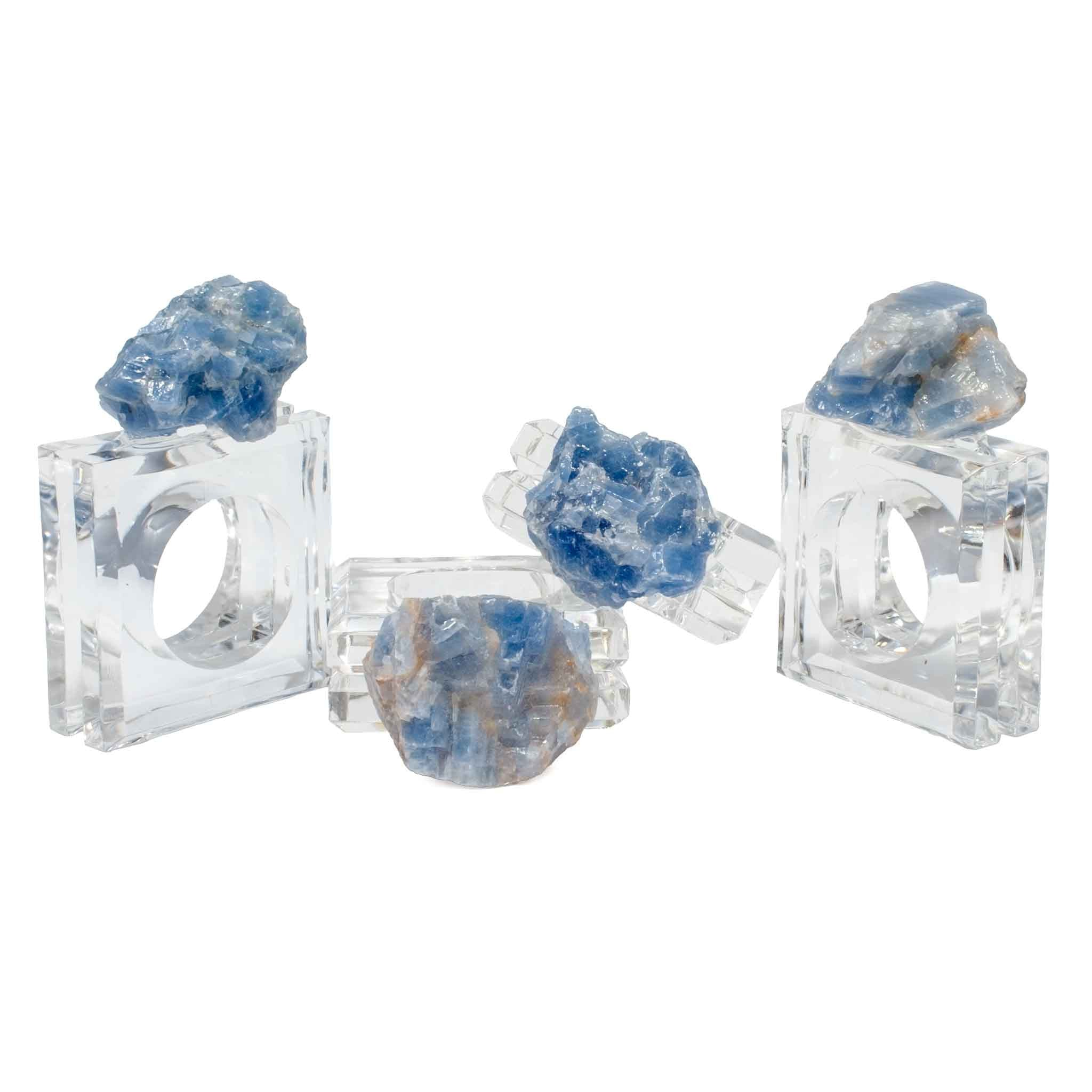 Blue Calcite Napkin Rings (set of 4)