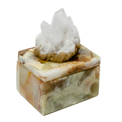 Very Small Onyx Pill Box w/ Himalayan Crystal