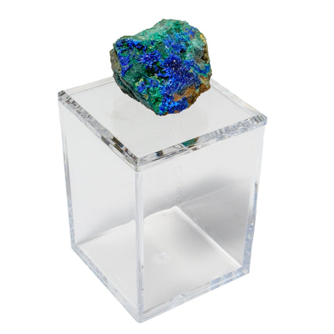 Tall Acrylic Box w/ Azurite