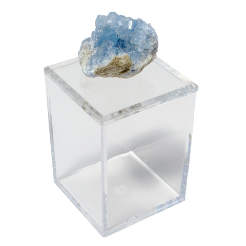 Tall Acrylic Box w/ Celestite Crystal