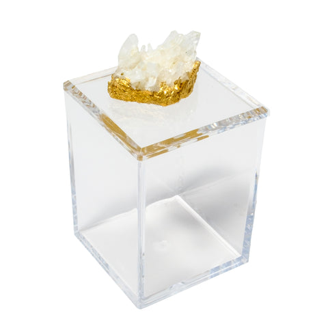 Tall Acrylic Box with Himalayan Crystal