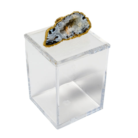 Tall Acrylic Box with Oco Geode