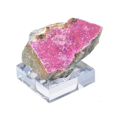 Cobaltoan Calcite Crystal on Acrylic Stand