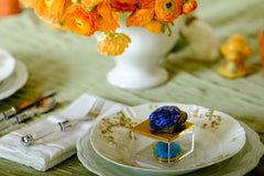 Metallic Gold Gem Box w/ azurite for your next luncheon