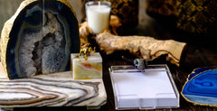 Father's Day Gift Ideas for Dad, Agate coasters by Mapleton Drive
