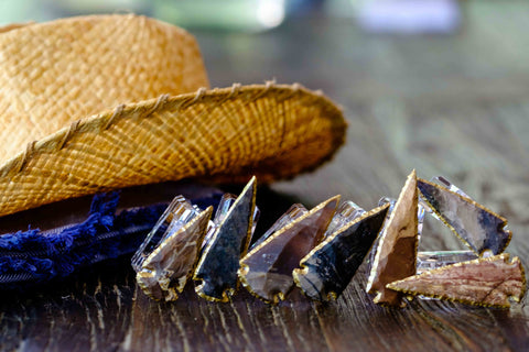 Agate Arrowhead Napkin Rings by Mapleton Drive