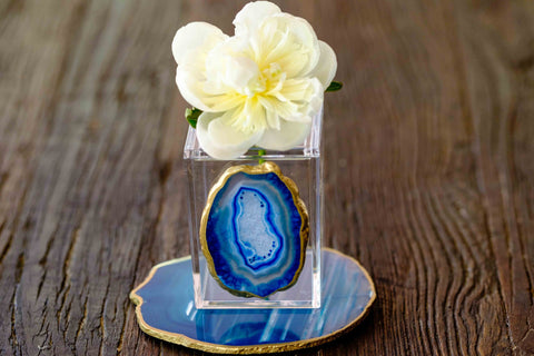 Acrylic Soap Dispenser w/ Blue Agate by Mapleton Drive
