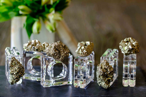 Pyrite Napkin Rings by Mapleton Drive