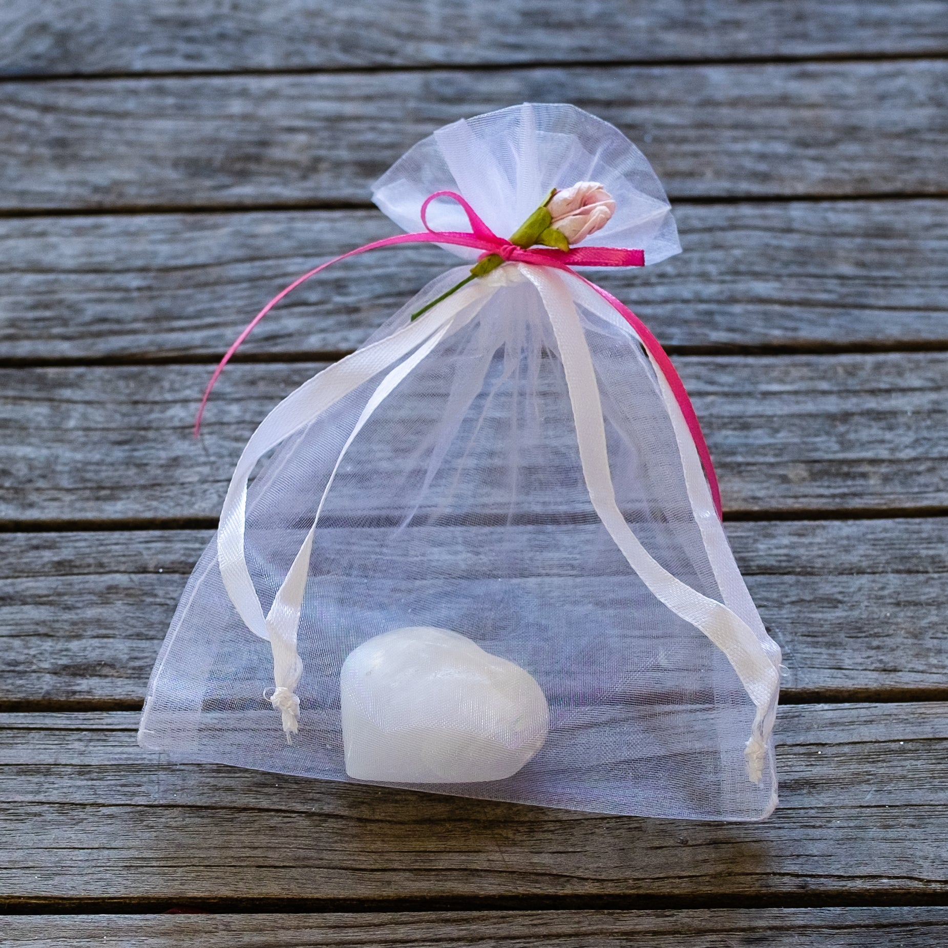 valentine gift from Mapleton Drive.  Selenite heart gift bag