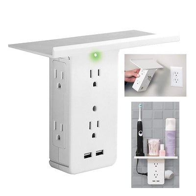 Switch Socket Rack Socket 8- US Standard Multi-function Bathroom AC Power Outlet Rack With USB Storage Holder