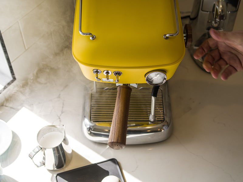 ascaso dream pid home espresso machine yellow