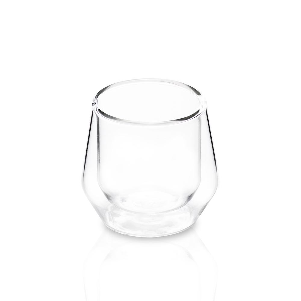 Double Wall Glass Espresso Cups, Set of 2