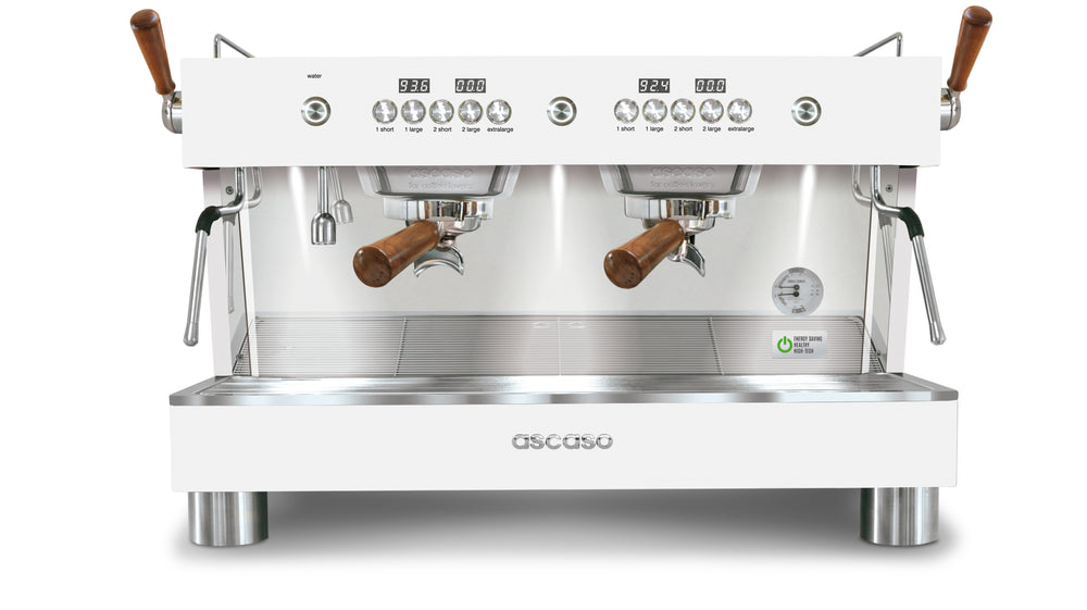 Barista T Plus, Automatic 2 Group Espresso Machine, with Thermodynamic Technology (White)