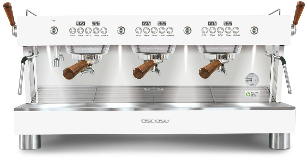 Barista T Plus, Automatic 3 Group Espresso Machine, with Thermodynamic Technology (White)