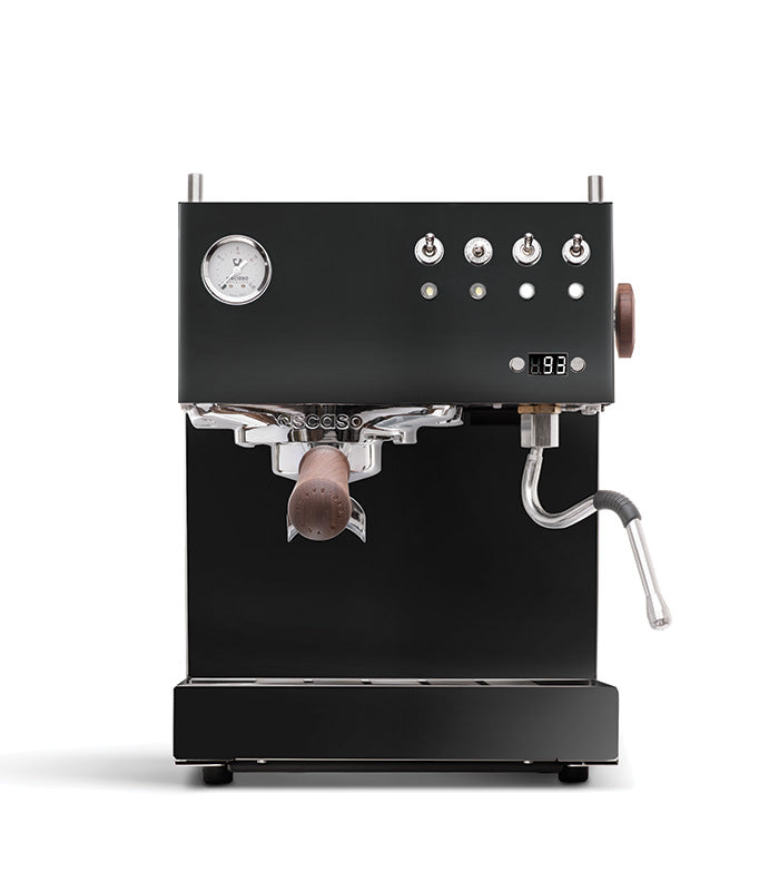 Steel UNO PID, Programmable Espresso Machine w/Volumetric Controls, Single Thermoblock, 120V (Black)