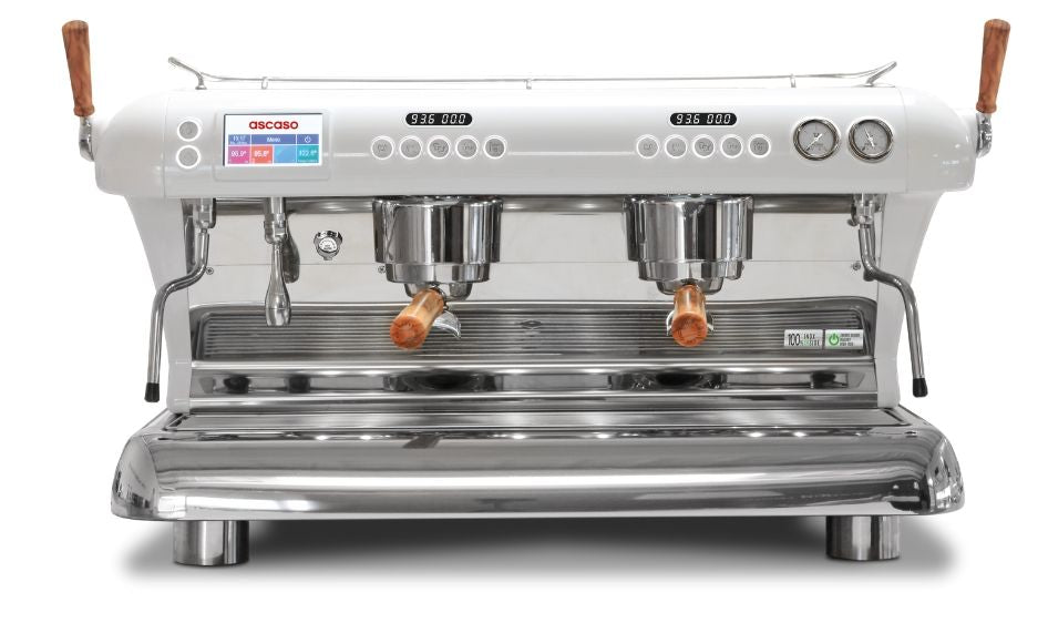 Big Dream Specialty, Automatic 2 Group Espresso Machine, with Thermodynamic Technology (White)