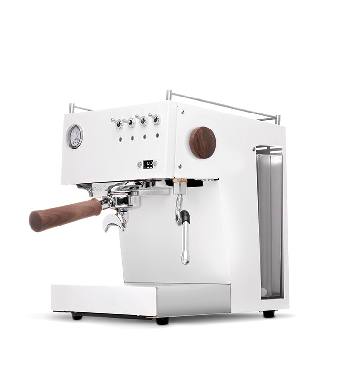 Steel UNO PID Programmable Espresso Machine w/Volumetric Controls, Single Thermoblock, 120V (White)