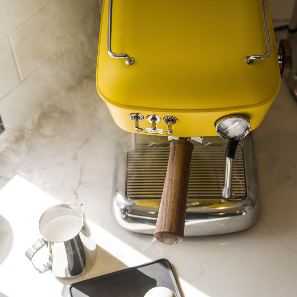 ascaso dream pid espresso machine yellow
