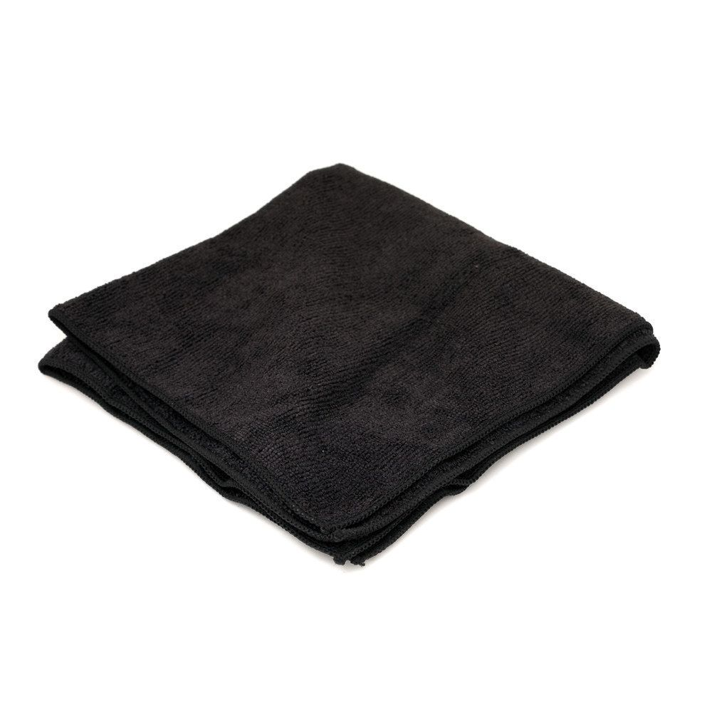 "Microfiber Black Cloth Towel 16"" x 16"""