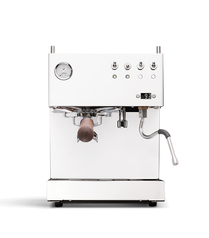 Steel DUO PID, Programmable Espresso Machine w/Volumetric Controls, Dual Thermoblock, 120V (White)