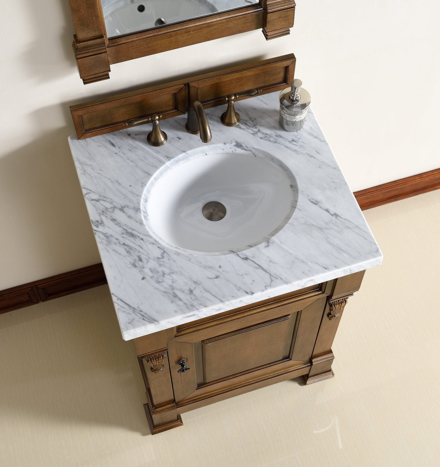 "26"" Brookfield Country Oak Single Bathroom Vanity"
