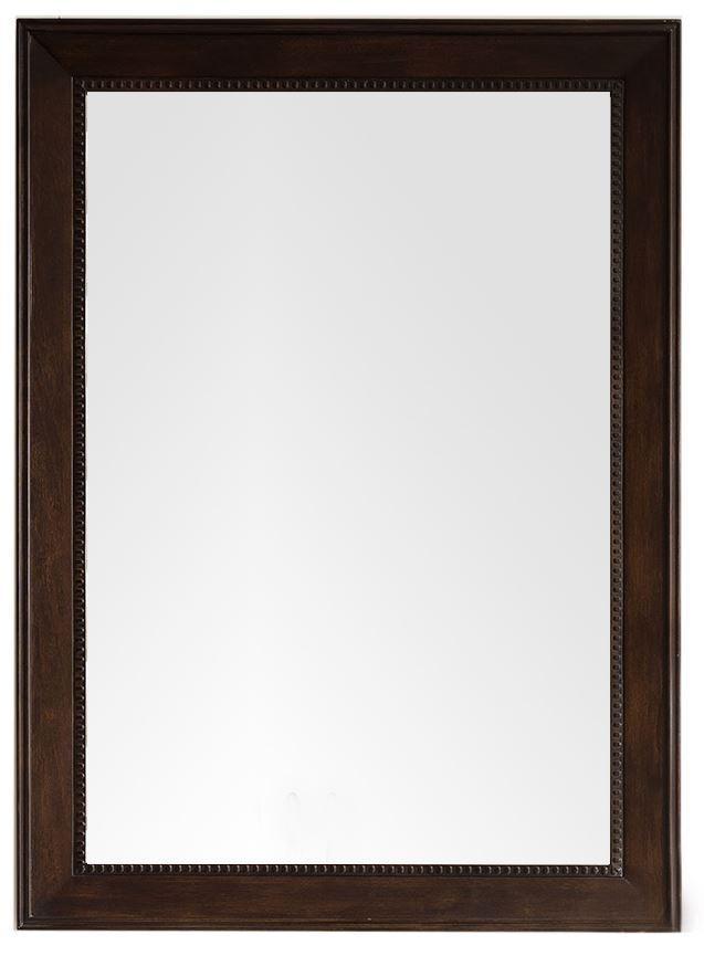 "Bristol 29"" Rectangular Mirror, Burnished Mahogany"