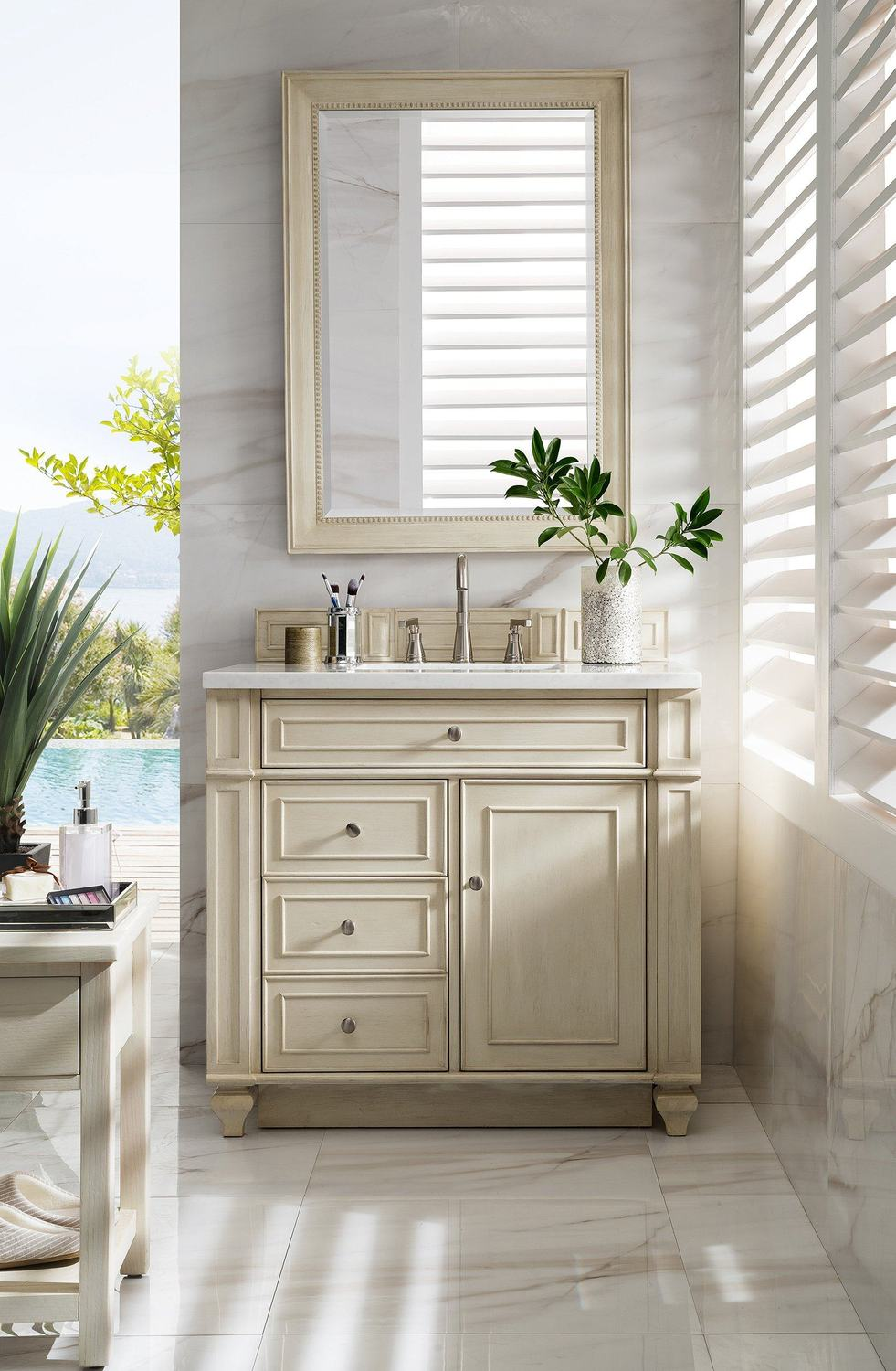 "36"" Bristol Vintage Vanilla Single Bathroom Vanity"