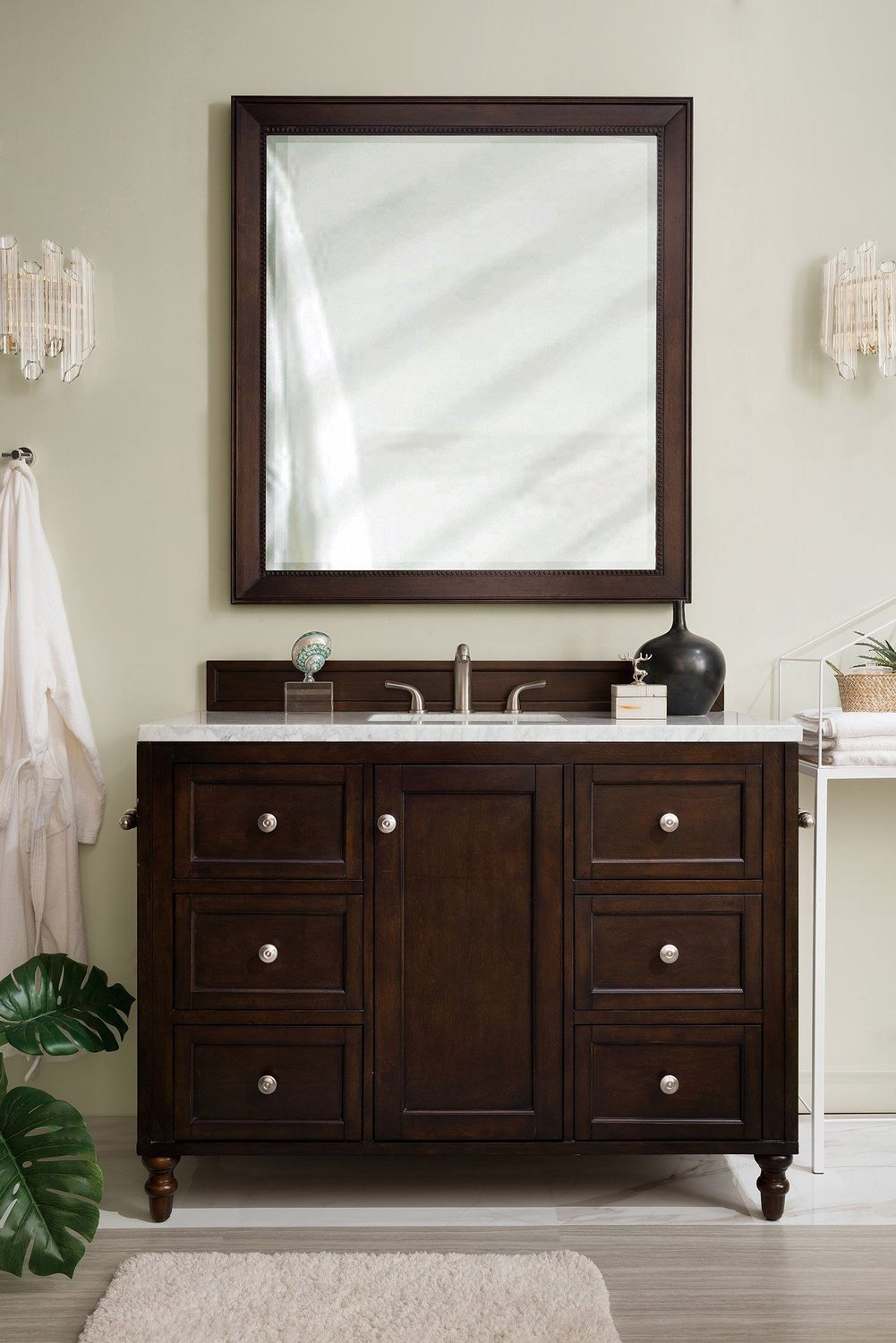 "48"" Copper Cove Encore Burnished Mahogany Single Sink Bathroom Vanity"