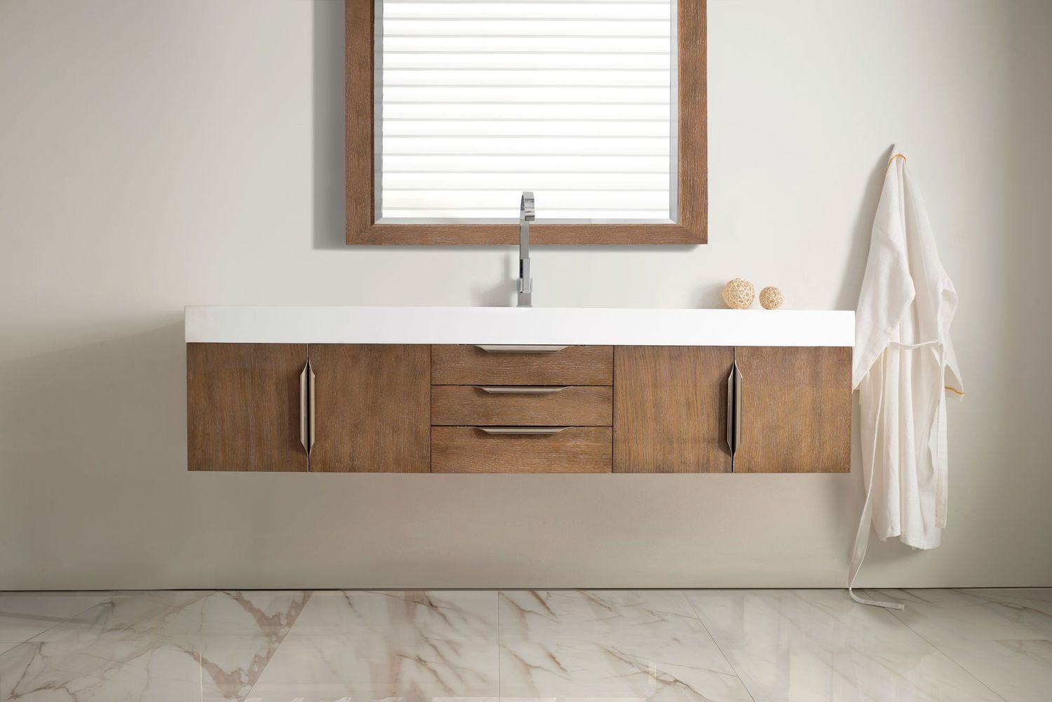 "72"" Mercer Island Latte Oak Single Sink Bathroom Vanity"