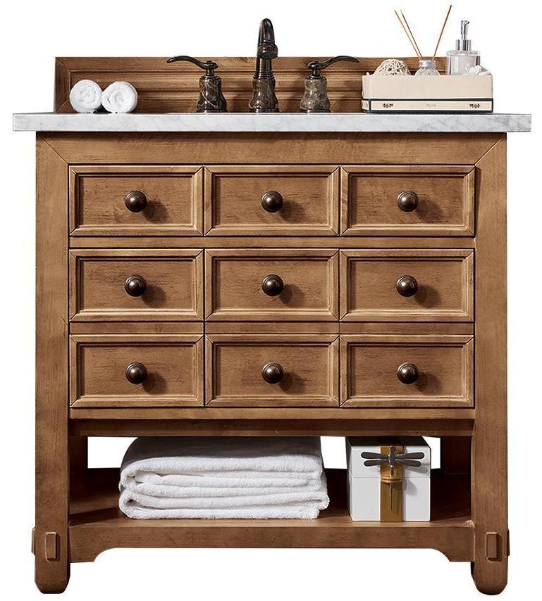 "36"" Malibu Honey Alder Single Sink Bathroom Vanity"