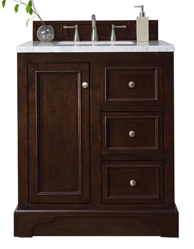 "30"" De Soto Burnished Mahogany Single Sink Bathroom Vanity 825-V30-BNM"