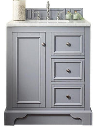 "30"" De Soto Silver Gray Single Sink Bathroom Vanity 825-V30-SL"