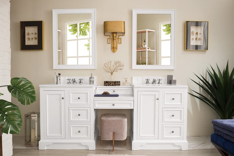 "82"" De Soto Bright White Double Sink Bathroom Vanity G825-V82-BW-DU"