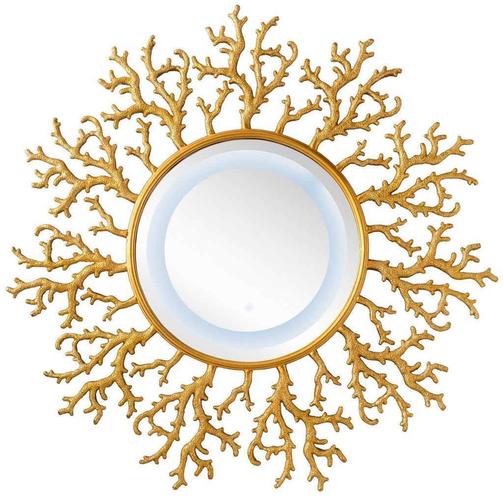 "Coral Reef 42"" Mirror, Radiant Gold 905-M42-RGD"