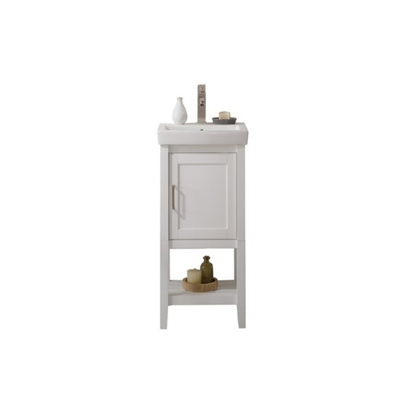 Legion Furniture White Ceramic 18-inch Sink Vanity