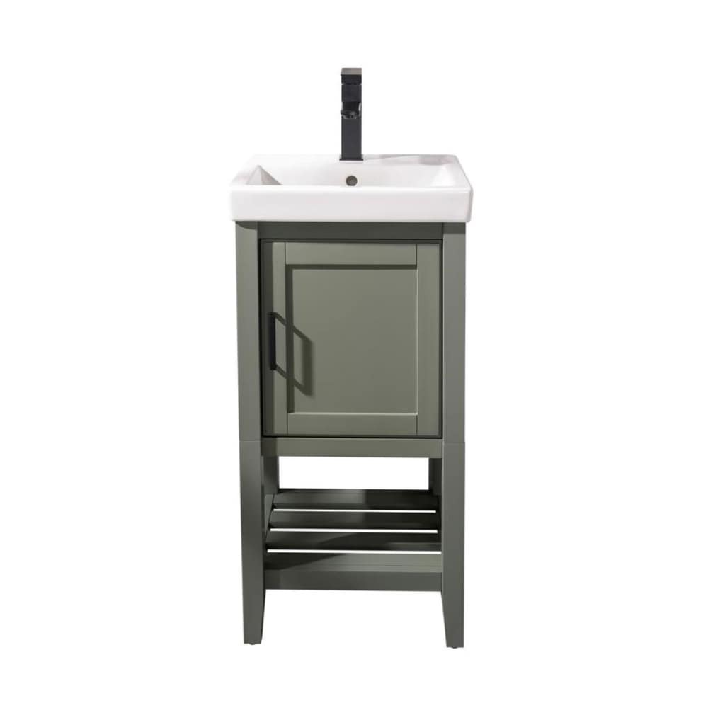 "Legion Furniture 18"" Pewter Green Sink Vanity WLF9018-PG"