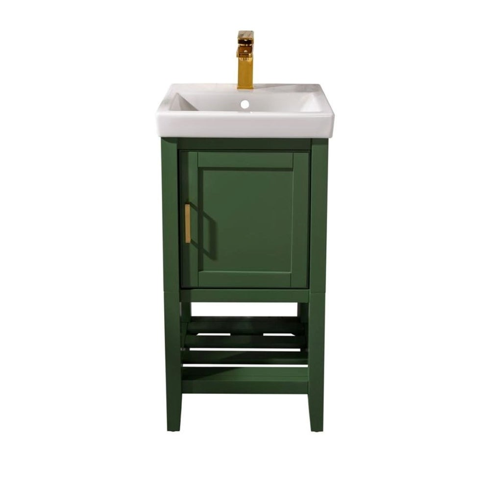 "Legion Furniture 18"" Pewter Green Sink Vanity WLF9018-VG"