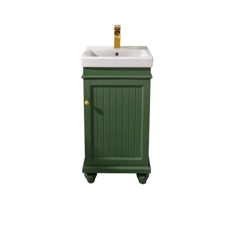 "Legion Furniture 18"" Vogue Green Sink Vanity WLF9318-VG"
