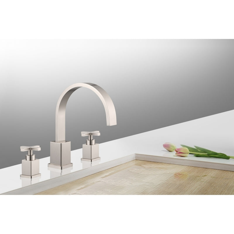 Legion Furniture 8 in. Widespread 2-Handle Bathroom Faucet in Brushed Nickel