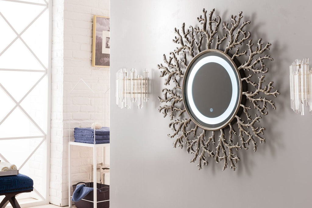 "Coral Reef 42"" Mirror, Burnished Silver 905-M42-BSL"