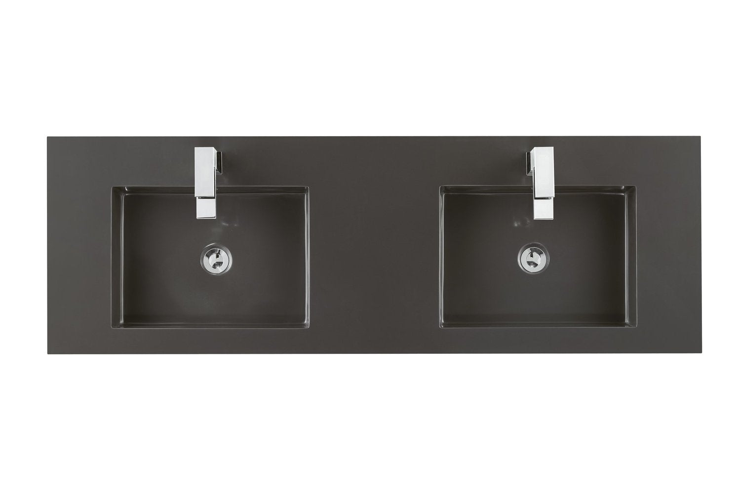 "59"" Tiburon Double Bathroom Vanity, Silver Oak 868-V59D-SOK"
