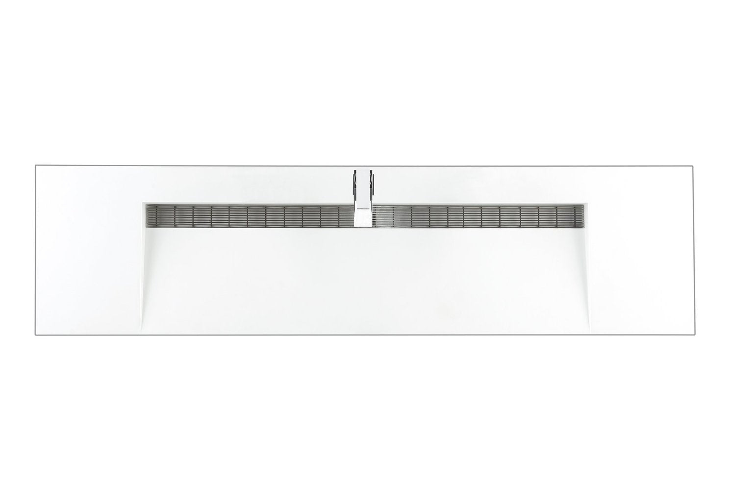 "72"" Linear Single Bathroom Vanity, Glossy White"