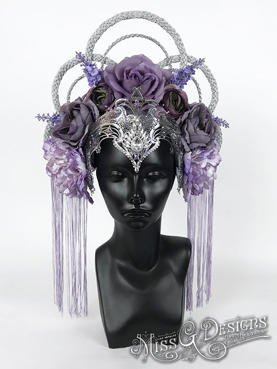 Purple Flower With Silver Crown