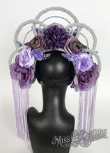 Load image into Gallery viewer, Purple Flower With Silver Crown