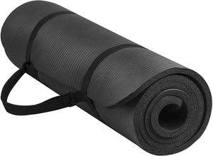 All-Purpose 1/2-Inch Yoga Mat with Carrying Strap