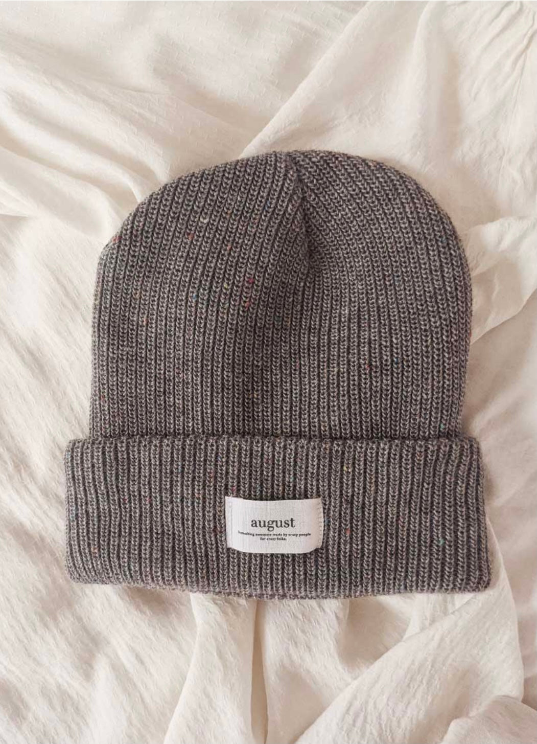 Grey Speckled Beanie